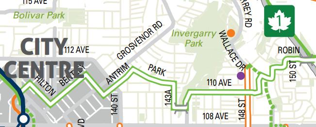 Port Mann - Surrey City Centre Neighbourhood Bike Route Map